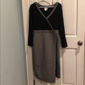 Maeve black and white dress